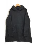 ()の古着「HOODED PULL SWEAT」|ブラック