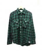 MANDO(マンドー)の古着「バッファローチェックネルシャツ」|グリーン