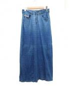 DIESEL(ディーゼル)の古着「USED加工スウェットデニムマキシスカート」|インディゴ