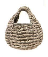 ANTEPRIMA(アンテプリマ)の古着「ベロア×ワイヤーバッグ」|ベージュ
