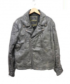Denim & Supply Ralph Lauren(デニムアンドサプライ ラルフローレン)の古着「コーティングライダースジャケット」|ブラック
