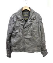 Denim & Supply Ralph Lauren(デニムアンドサプライ ラルフローレン)の古着「コーティングライダースジャケット」 ブラック