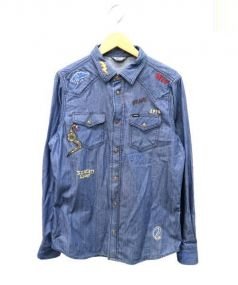 DIESEL(ディーゼル)の古着「刺繍ウエスタンシャツ」|インディゴ