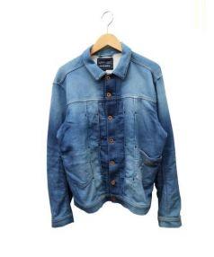 DIESEL(ディーゼル)の古着「USED加工スウェットジャケット」|インディゴ
