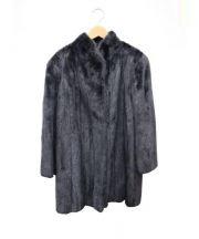 SAGA MINK(サガミンク)の古着「ミンクコート」 ダークグレー