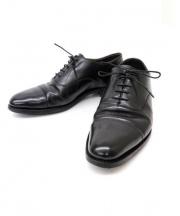 大塚製靴(オオツカセイカ)の古着「内羽根ストレートチップシューズ」 ブラック