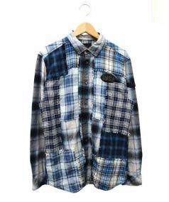 DIESEL(ディーゼル)の古着「チェックシャツ」 ブルー×ホワイト