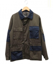 MARC JACOBS(マークジェイコブス)の古着「ツイルサファリジャケット」|カーキ×ネイビー