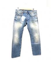 G-STAR RAW(ジースターロゥ)の古着「エイジング加工デニムパンツ」|インディゴ