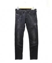 DIESEL(ディーゼル)の古着「ブラックデニムパンツ」|ブラック