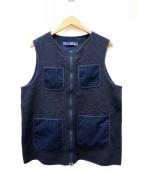 meanswhile(ミーンズワイル)の古着「Wool Tweed Liner Vest」|ネイビー