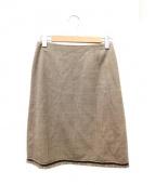 FOXEY BOUTIQUE(フォクシーブティック)の古着「裾フリンジスカート」|ベージュ
