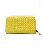 BOTTEGA VENETA(ボッテガベネタ)の古着「ラウンドファスナー財布」|マスタード