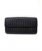 BOTTEGA VENETA(ボッテガベネタ)の古着「長財布」 ブラック