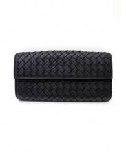 BOTTEGA VENETA(ボッテガベネタ)の古着「長財布」|ブラック