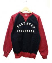 FLAT HEAD(フラットヘッド)の古着「2トーンフリーダムスウェット」|パープル×ブラック