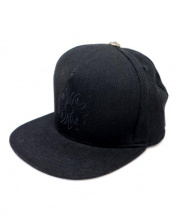 CHROME HEARTS(クロムハーツ)の古着「クロス刺繍ベースボールキャップ」|ブラック