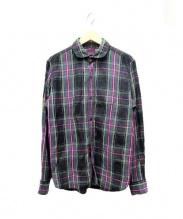 BRU NA BOINNE(ブルーナボイン)の古着「リネンシャツ」|パープル