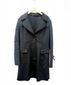 ERMARNNO SCERVINO(エルマンノ シェルヴィーノ)の古着「ジャージーチェスターコート」|ブラック