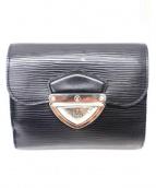 LOUIS VUITTON(ルイヴィトン)の古着「3つ折り財布」|ブラック