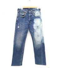 LEVIS VINTAGE CLOTHING(リーバイス ビンテージ クロージング)の古着「ブリーチ加工デニムパンツ」|インディゴ