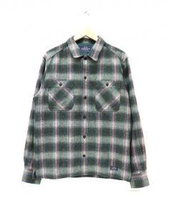NEIGHBORHOOD(ネイバーフッド)の古着「ウールシャツ」|グリーン×グレー