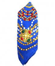 CHANEL(シャネル)の古着「シルクスカーフ」 ブルー