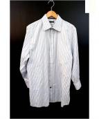 LOUIS VUITTON(ルイ・ヴィトン)の古着「ドレスシャツ」|ブルー×ホワイト