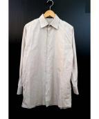 LOUIS VUITTON(ルイ・ヴィトン)の古着「ドレスシャツ」|ブラウン×ホワイト