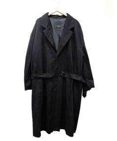 UNRELAXING(アンリラクシング)の古着「ビッグシルエットチェスターコート」|ブラック