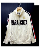 BARACUTA(バラクータ)の古着「サイドラインスウェットジャケット」|ベージュ