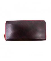 Kissora(キソラ)の古着「ラウンドファスナー長財布」|ブラウン×レッド