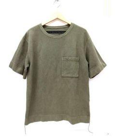 KAPITAL(キャピタル)の古着「ヘビーワッフルTシャツ」|オリーブ