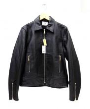 Rags McGREGOR(ラグス マックレガー)の古着「シングルライダースレザージャケット」|ブラック