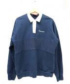Supreme(シュプリーム)の古着「ラグビースウェットシャツ」|ネイビー