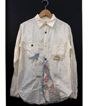 KAPITAL(キャピタル)の古着「リメイクヴィンテージ加工コットンシャツ」|アイボリー