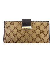 GUCCI(グッチ)の古着「2つ折り長財布」|ブラウン