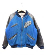 AVIREX(アヴィレックス)の古着「レザージャケット」|ブルー×ブラウン