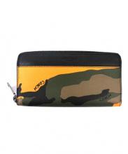 COACH(コーチ)の古着「長財布」|ブラック×オレンジ