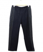 BRU NA BOINNE(ブルーナボイン)の古着「カシミヤ混イージーウールパンツ」 ネイビー