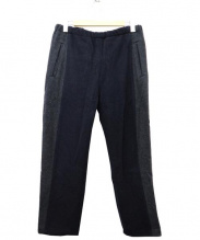 BRU NA BOINNE(ブルーナボイン)の古着「カシミヤ混イージーウールパンツ」|ネイビー