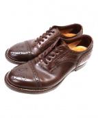 foot the coacher(フット ザ コーチャー)の古着「ウィングチップシューズ」|ブラウン