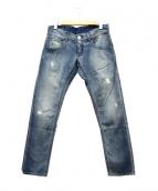 EMPORIO ARMANI(エンポリオ アルマーニ)の古着「ダメージ加工デニムパンツ」|インディゴ