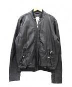 DIESEL(ディーゼル)の古着「シングルレザージャケット」 ブラック