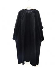 UNIVERSAL TISSU(ユニヴァーサル ティシュ)の古着「コーデュロイワンピース」 ブラック
