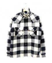 DENIME(ドゥニーム)の古着「ウエスタンチェックジャケット」 アイボリー×ブラック