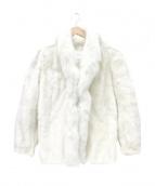 SAGA MINK(サガミンク)の古着「ミンクコート」 ホワイト