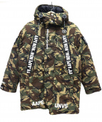 AAPE BY A BATHING APE(エーエイプバイアベイシングエイプ)の古着「ダウンジャケット」|オリーブ