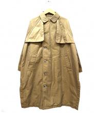 UNIVERSAL TISSU(ユニバーサルティシュ)の古着「変形トレンチコート」|ブラウン