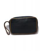 Valextra(ヴァレクストラ)の古着「バッファローレザーセカンドバッグ」 ブラック
